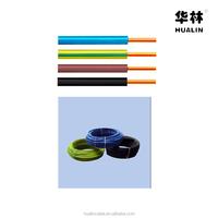 HUALIN PVC Insulation Copper conductor electirc cable wire HO5V-U HO7V-U BV/BVR cable