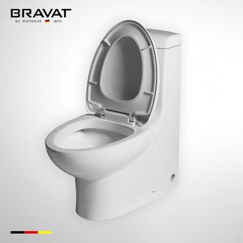 Bravat Bathroom Ceramic with soft-closing cover soft close toilet hinges,  View soft close toilet hinges, Bravat Product Details from Bravat (China)
