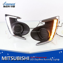 car styling mirage led daytime running light for mitsubishi attrage mirage 2012-2015 led drl fog lamp
