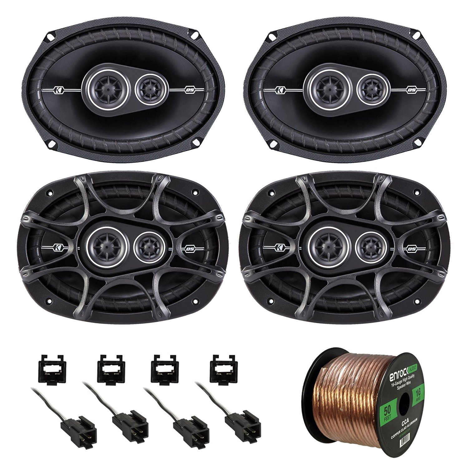Buy Car Speaker Bundle Combo 2 Pairs Of Kicker 43dsc6504 65 Inch Gm Stereo Wiring Harnesses 41dsc6934 6x9 360 Watt 3