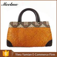 Fashion party ladies handbag pure bamboo handbag handlesrattan bamboo hand handle retro environmental protection bag