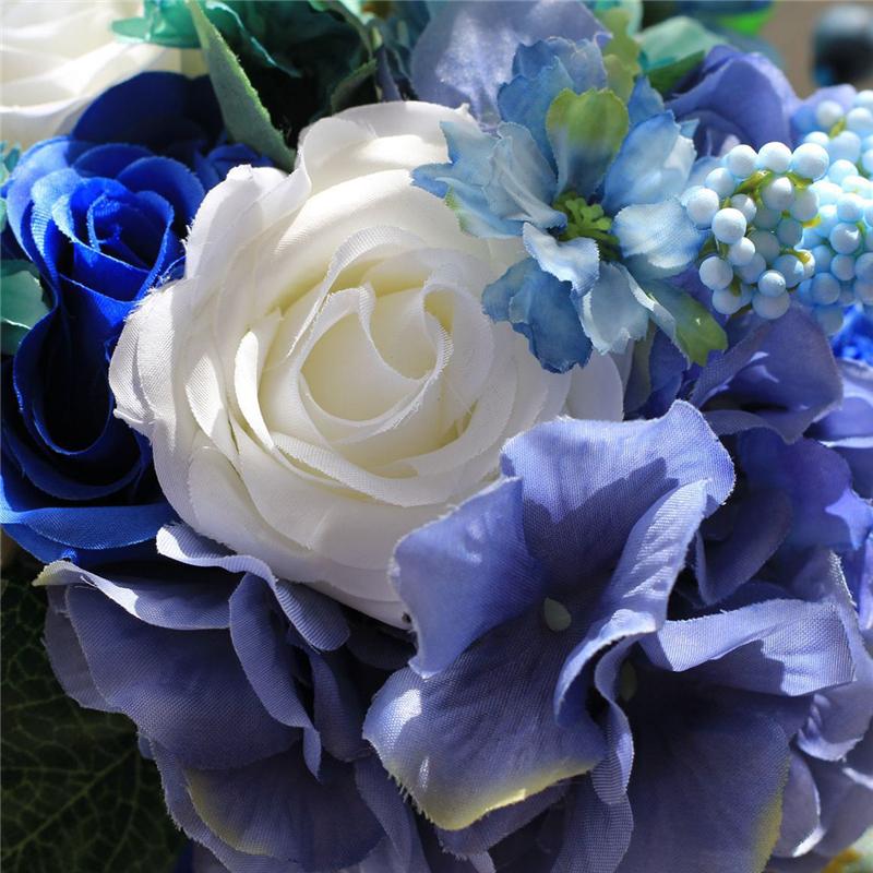 Kunstliche Blaue Rose Blume Gefalschte Hortensien Haufen Blumen Hause Braut Hochzeit Party Bar Decor Buy Hortensien Haufen Blumen Kunstliche Rose