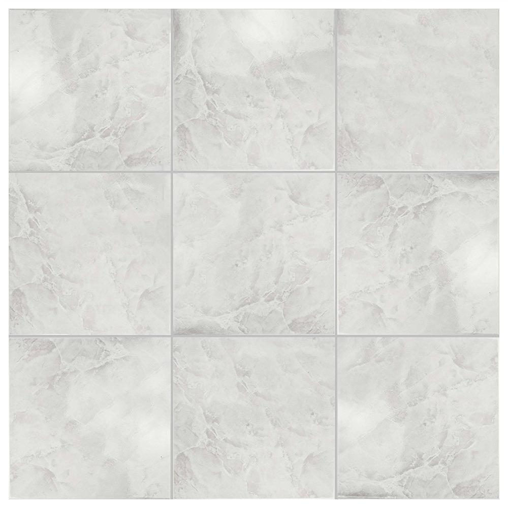 Orient White Vinyl Polished Marble Flooring Tile In Bathroom ...