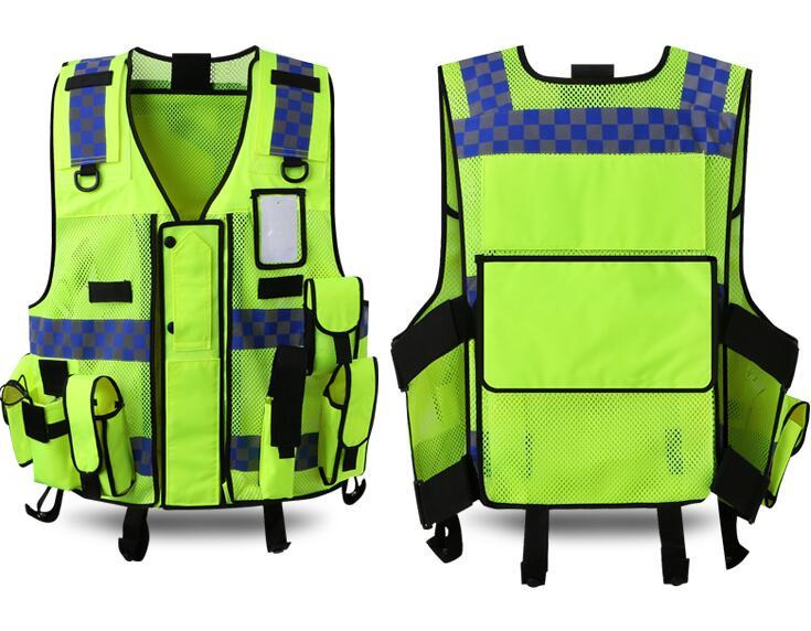 Réfléchissant Police Sécurité Sauvetage SAR Répondre Gilet De Sécurité Routière