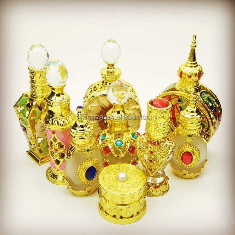 12ml metal arabic perfume bottles dubai attar fragrant genie