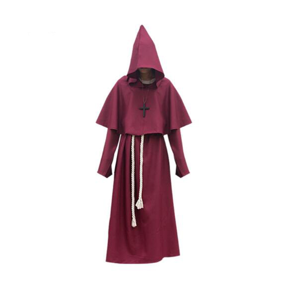 Responsible Medieval Dress Man Clothes Men Cosplay Halloween Cloak Hooded Comic Con Costumes Party Robes Cloak Cape Priest Adult Renaissance Home