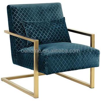 Luxe Lounge Stoel.Moderne Zachte Blauwe Fluwelen Luxe Lounge Stoel Buy Roze Lounge