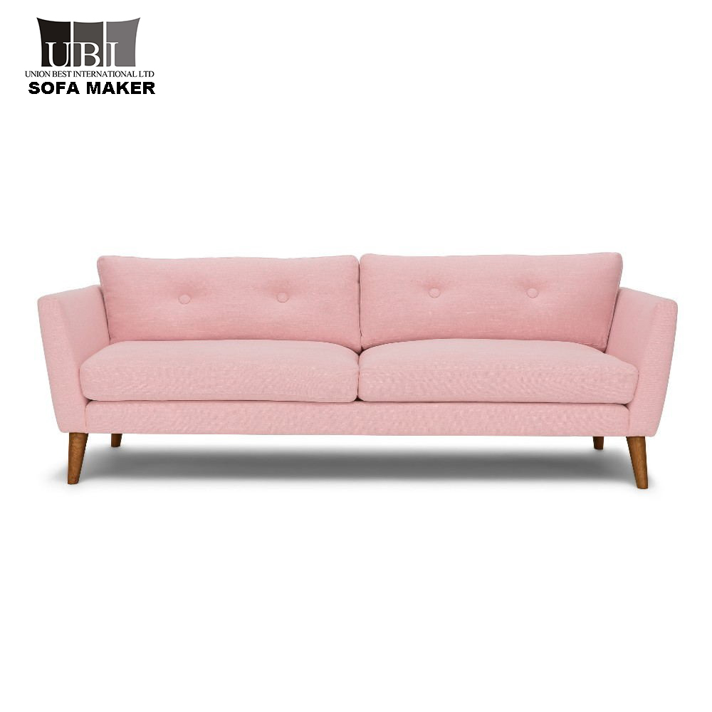 Factory Direct Sale Modern Pink Fabric Sofa - Buy Pink Fabric Sofa ...