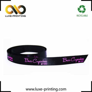 Wholesale Custom Logo Printed Satin Ribbon With High Quality