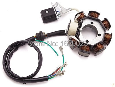 brand new magneto generator stator coil 8 coils 5 wire for ... motorcycle coil wiring diagram