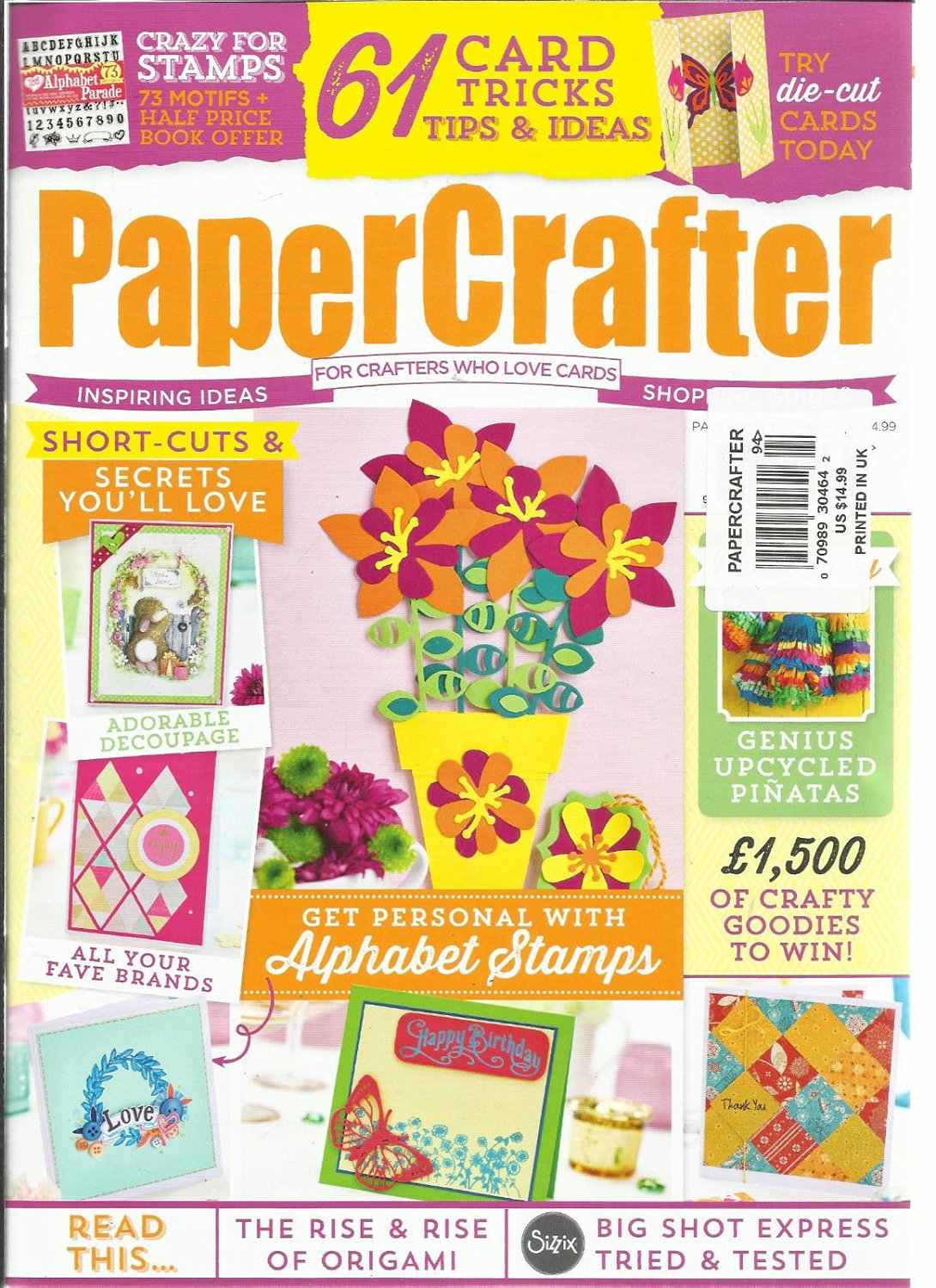 PAPER CRAFTER, FOR MAKERS WHO LOVE PAPER ISSUE, NO 94 ( 61 CARD TRICKS TIPS &