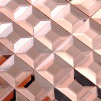 5*5 Shiny Mosaic Square Mirror Glass Tile Develed Art Deco