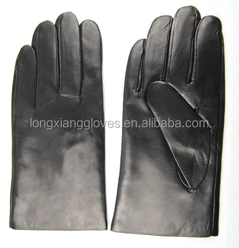 Soft lambskin classic and plain daliy life style mens <strong>gloves</strong> with warm wool lined