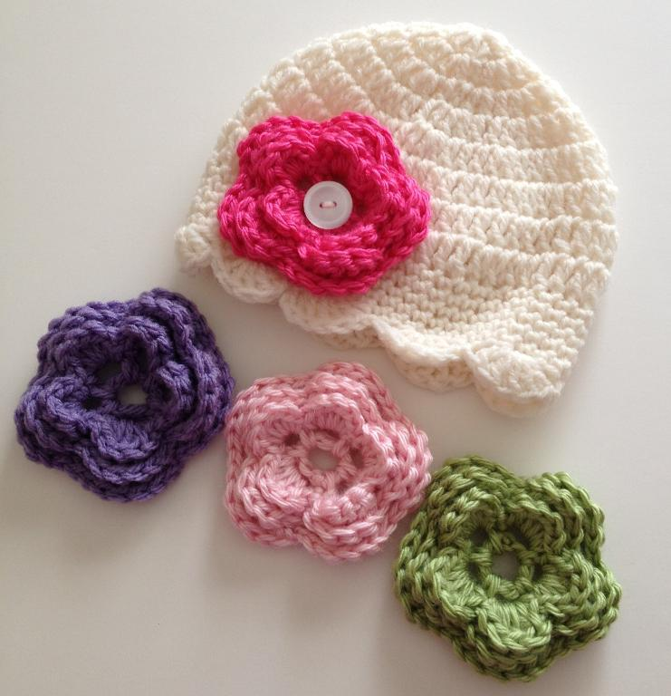 Floral Crochet Hat Pattern : White Slouchy Beanie Hat Knitting Pattern Girls Crochet ...