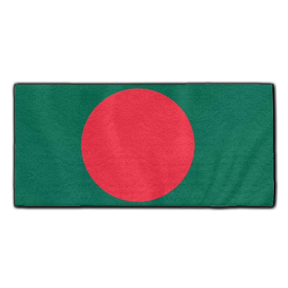 ChunLei Bangladesh Flag Washcloths Face Towel Hair Care Towel Gym And Spa Towel Kitchen Dish Towel