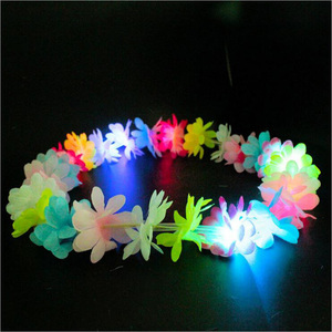 Factory Price Led Hawaii Flower Lei Light Up Hawaiian Flower