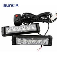 LED Strobe Flashing Tow Truck light LED rechargeable Strobe Dash Emergency vehicle strobe Flashing Warning Light