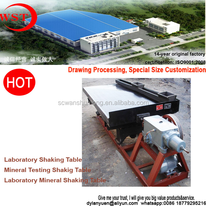 laboratory testing equipment, concentration table for metal ore