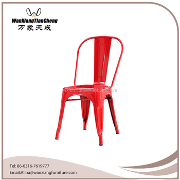 Metal Dining Chairs Industrial french dining chairs industrial style stacking metal dining chair