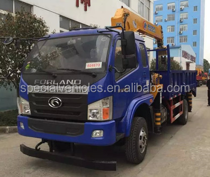 High quality 15 tons load crane option Foton truck with crane for sale