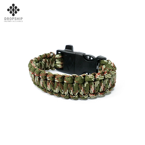 Dropship DS-SG1010 Best Hiking Braid 550 Fire Starter Camping equipment paracord survival bracelet