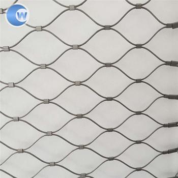 316l Stainless Steel Wire Rope Ss Ferrule Mesh Bird Wire Netting ...