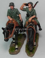 Custom German Cavalry Toy Soldier 2 pcs set/Make Own Design Soldier Plastic Figure/Factory Made Kids Troops Figures Toys