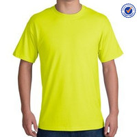 50 cotton 50 polyester t shirts fluo CVC 50%cotton/50%polyester t shirts for men