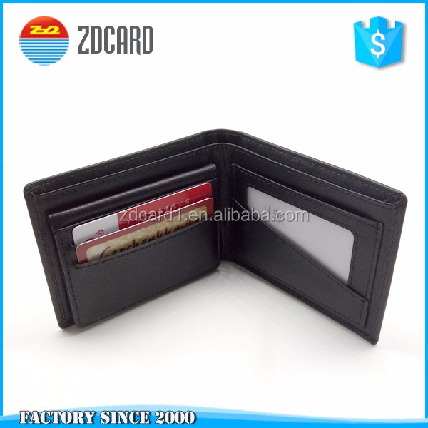 Genuine cow leather credit card holder <strong>wallet</strong> man on sale (rfid blocking protector)