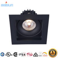2017 China Supplier hot selling factory price 100mm 10W square black IP54 waterproof led dimmable downlight