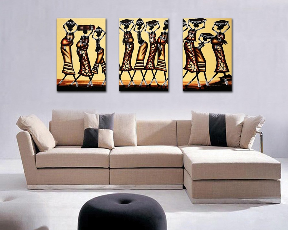 Free Shipping Abstract African Figure Print Painting Wall