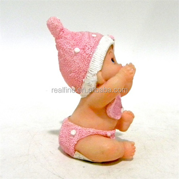 Promotion popular resin cute baby girl figurine for wedding decoration