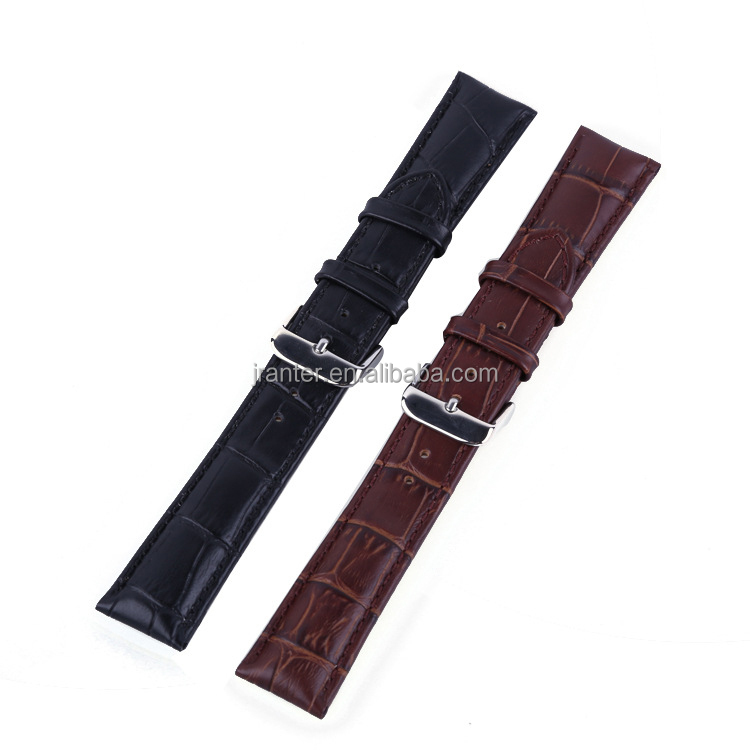 Hot Selling Crocodile Grain Genuine Leather Watch Strap