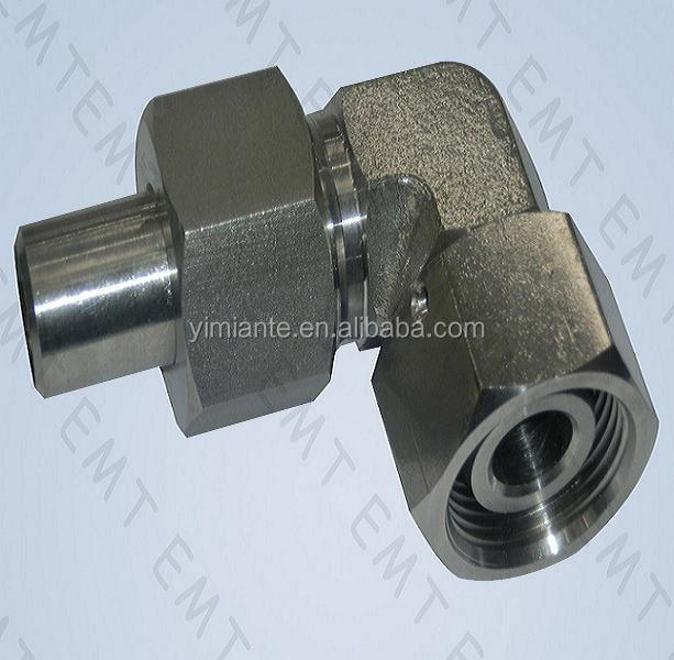 tube adaptor hydraulic adaptor 90 degree elbow reducer tube adaptor with swivel nut
