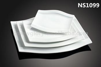 wave shape flat plate/sushi/beef stick/fish plate/ceramic/porcelain & Wave Shape Flat Plate/sushi/beef Stick/fish Plate/ceramic/porcelain ...
