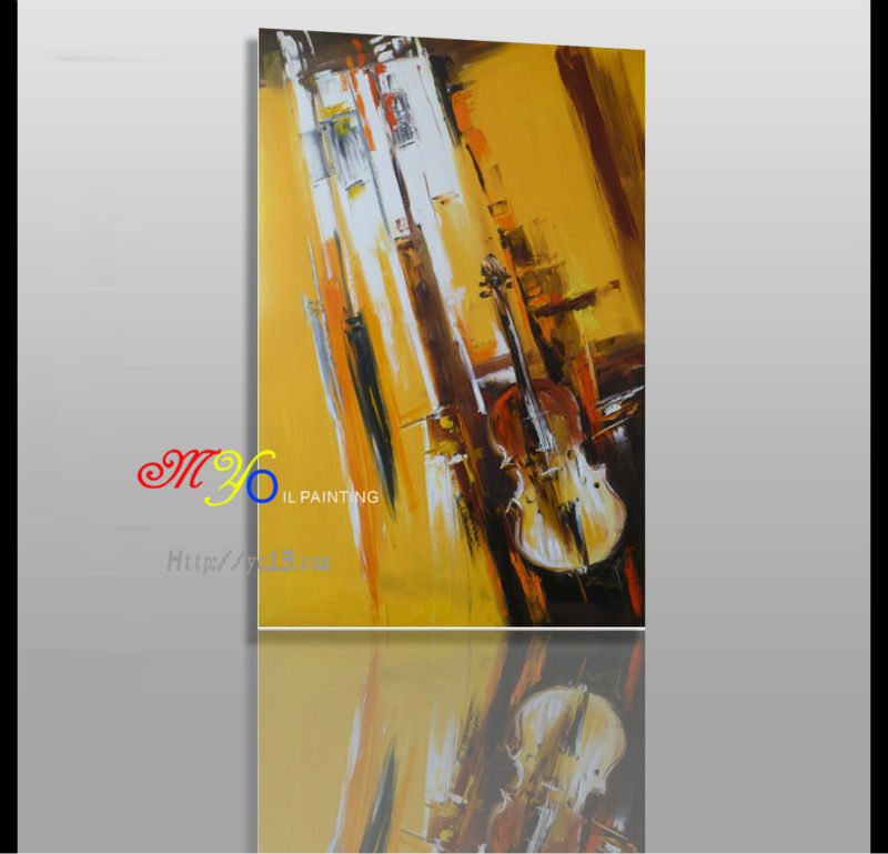 musical instruments simple Canvas Best Seller In China abstract oil painting
