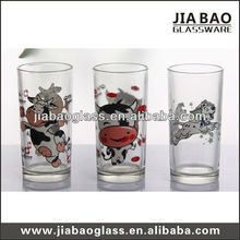 10oz printed water glass,glass ware,6 piece glass tumbler set GB-YH