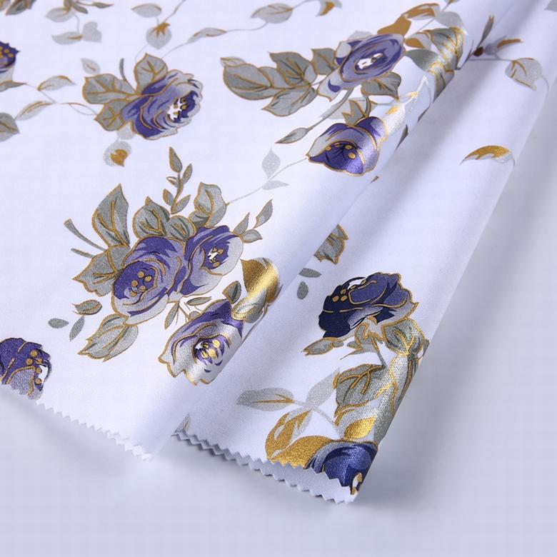 Shaxoing textile vêtement matériel floral robe scuba tissu d'impression
