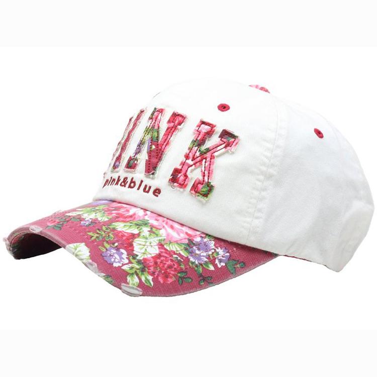 Sexy Women Girl Flower Pink Cute Lady Design Ball Cap Baseball Hat ... 0555b44a8
