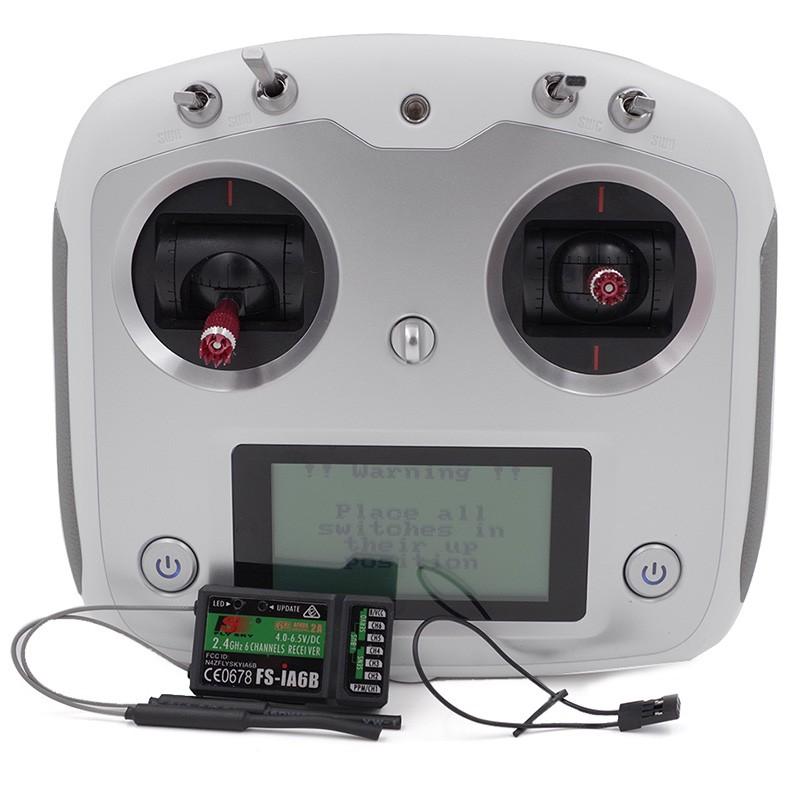 QA029 FlySky FS-I6S מרחוק בקר FS i6s 2.4G 6ch רדיו משדר + iA6b מקלט לrc Quadcopter Multirotor Drone