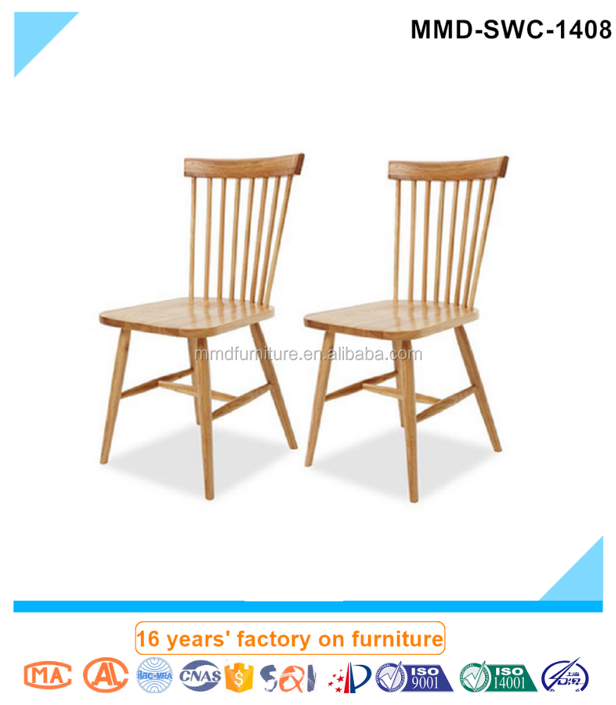 Famous design wood product windsor chair with backrest &wood seat