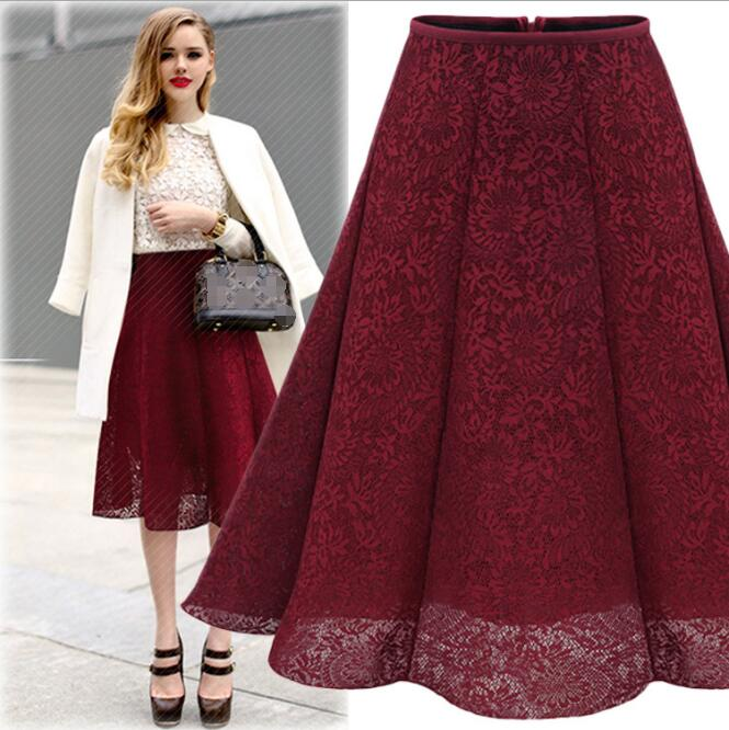 LM2707Q 2017 summer women lace skirts fashion pleated skirt
