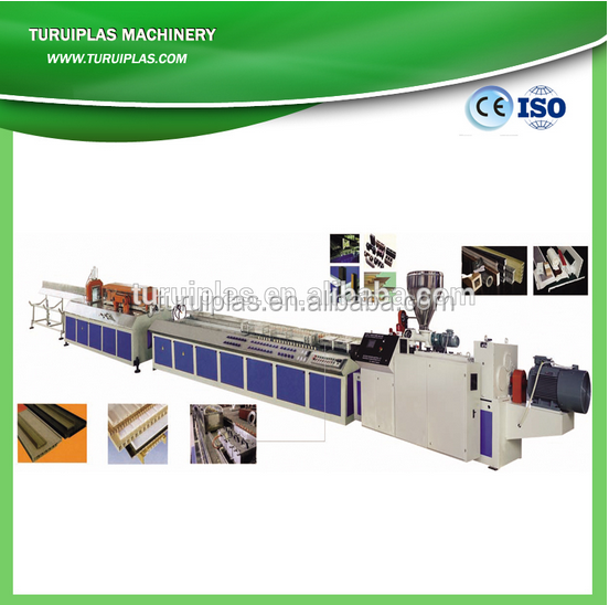 pvc profile extrusion machine,upvc windows production line,wpc window machinery TURUI