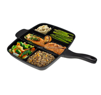 Master Pan Divided Frying Pan for All-in-One Cooked Breakfast