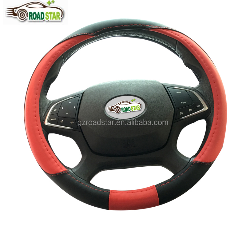 Factory Supply New Design pu copy leather Hotsale Car Steering Wheel Cover