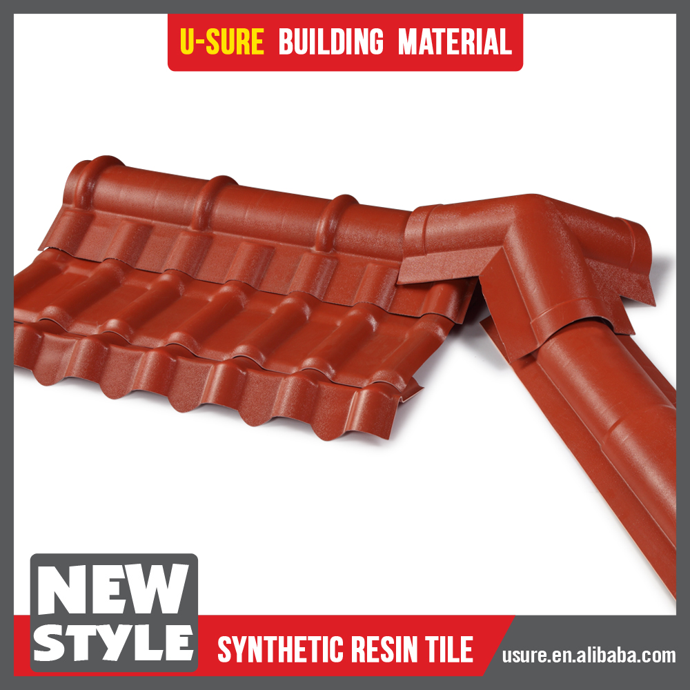 Colorful long life time synthetic resin royal asa coated pvc roofing tile custom design