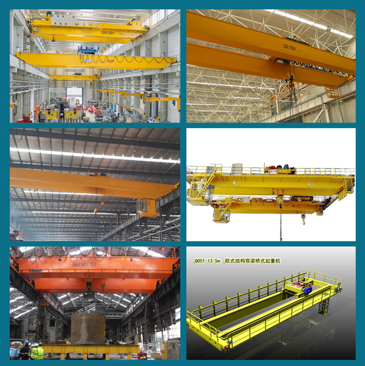 25 ton/10 ton Europe style double girder bridge cranes