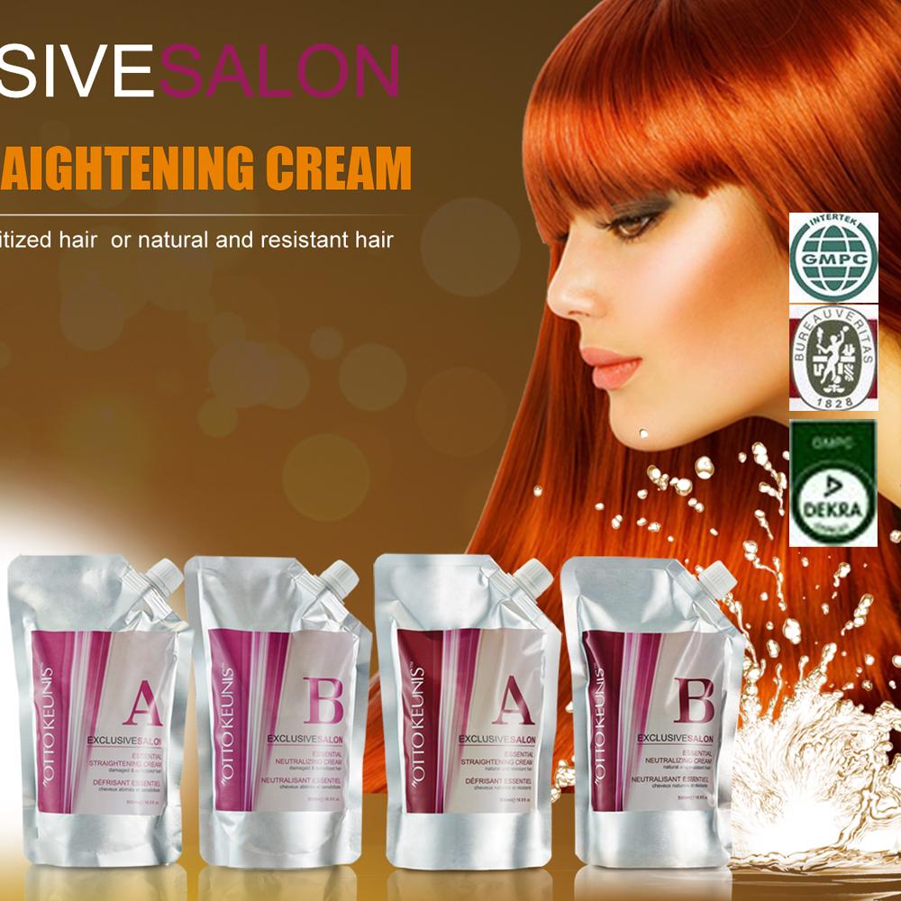 Straight perm procedure - Permanent Hair Straightening System Hair Relaxer Cream