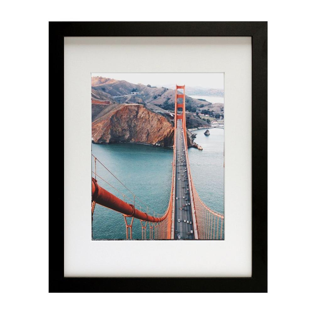Grote gallery muur decor houten picture photo frames A1 A2 A3 A4 11x14 16x20 20 x 26-zwart, hout, wit