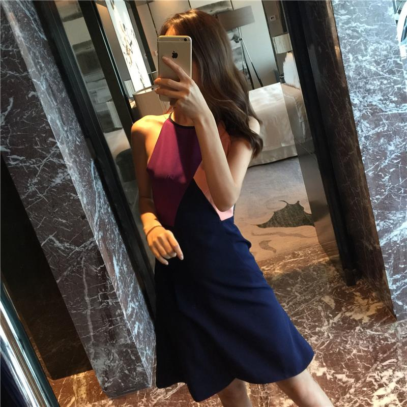 skull dress ladies Hot selling Ou Han clothing enterprises wholesale agent Europe ladies temperament stitching fishtail dress ho